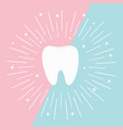 healthy tooth icon round line circle flat design vector image vector image