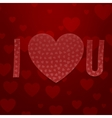 I love You Abbreviation Valentines Day Symbols vector image