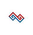 infinite letter g logo icon design vector image