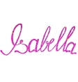 Isabella name lettering tinsels vector image vector image