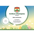 Kids certificate of participation template camping vector image vector image