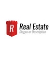 logo design for a company engaged in real estate vector image vector image