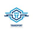 logo design transport letter t concept vector image vector image