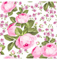 luxurious color roses seamless pattern vector image vector image