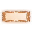 Luxury vintage frame template vector image vector image