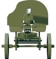 Maxim machine gun vector image vector image