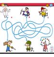 maze task activity for children vector image vector image