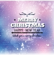 Merry Christmas card on grunge paper vector image vector image