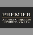 modern serif typeface design font vector image vector image