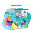 online training students learning vector image