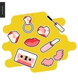 Patches hand drawn set vector image vector image
