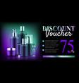 premium cosmetic bottle discount vector image vector image