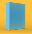 Realistic Blank Blue Packaging Box Template for vector image vector image