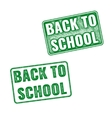 Realistic green stamp back to school vector image