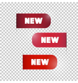 Red Labels Tags Set with New Title