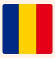 romania square flag button social media vector image