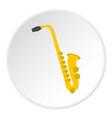saxophone icon circle vector image vector image