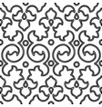 seamless pattern back curl decor vector image vector image
