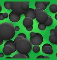 seamless pattern holes and circles with shadows vector image vector image