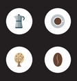 set of beverage icons flat style symbols with tree vector image