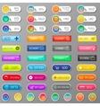 Shop buttons ecommerce set vector image