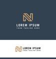 simple letter n initial logo design n letter vector image vector image