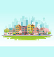 spring cityscape vector image vector image