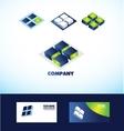 Square cube logo icon vector image vector image