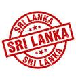 sri lanka red round grunge stamp vector image vector image