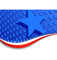 Stars and Stripes Landscape Large Star vector image vector image