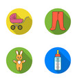stroller bottle with a pacifier toy sliders vector image