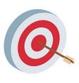 target dartboard symbol 3d vector image