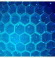 Tech Hexagon Background vector image vector image