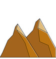 two mountain natural wild land scene vector image