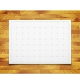 white isolated square grid with shadow isolated vector image vector image