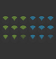 wifi icons set wireless signs vector image vector image