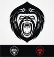 Angry Gorilla Head Mascot vector image