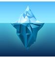 Iceberg in blue ocean background vector image