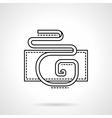 Flat line serpentine icon vector image