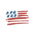 american flag brush vector image
