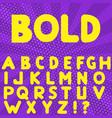 bold hand drawn alphabet vector image
