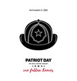 911 patriot day a fireman vector image vector image