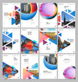 a4 brochure layout covers design templates vector image vector image