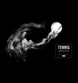 abstract silhouette of a tennis ball vector image