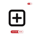 add button icon vector image vector image