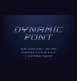 alphabet minimalist typeface capital letters of vector image
