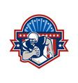 American Football QB Quarterback Crest vector image vector image
