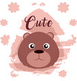 bear cute animal cartoon vector image