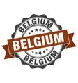 belgium round ribbon seal vector image vector image