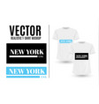 black and white new york usa graphic fashion label vector image vector image